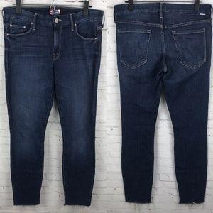Mother Women Jeans Girl Crush Looker Ankle Fray 30
